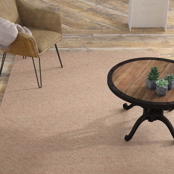 Viviana Industrial Hand-Woven Beige Area Rug by Williston Forge