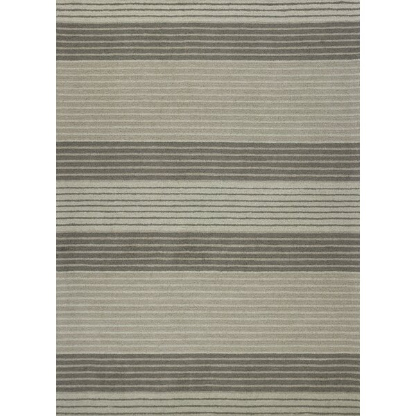 Cassidy Hand-Tufted Gray Wool Area Rug by Ebern Designs