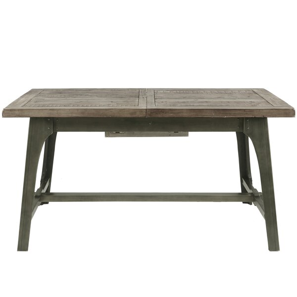 Casimir Extendable Solid Wood Dining Table by Gracie Oaks Gracie Oaks