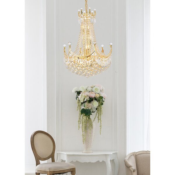 Lebron 18 - Light Statement Empire Chandelier with Crystal Accents by Willa Arlo Interiors Willa Arlo Interiors