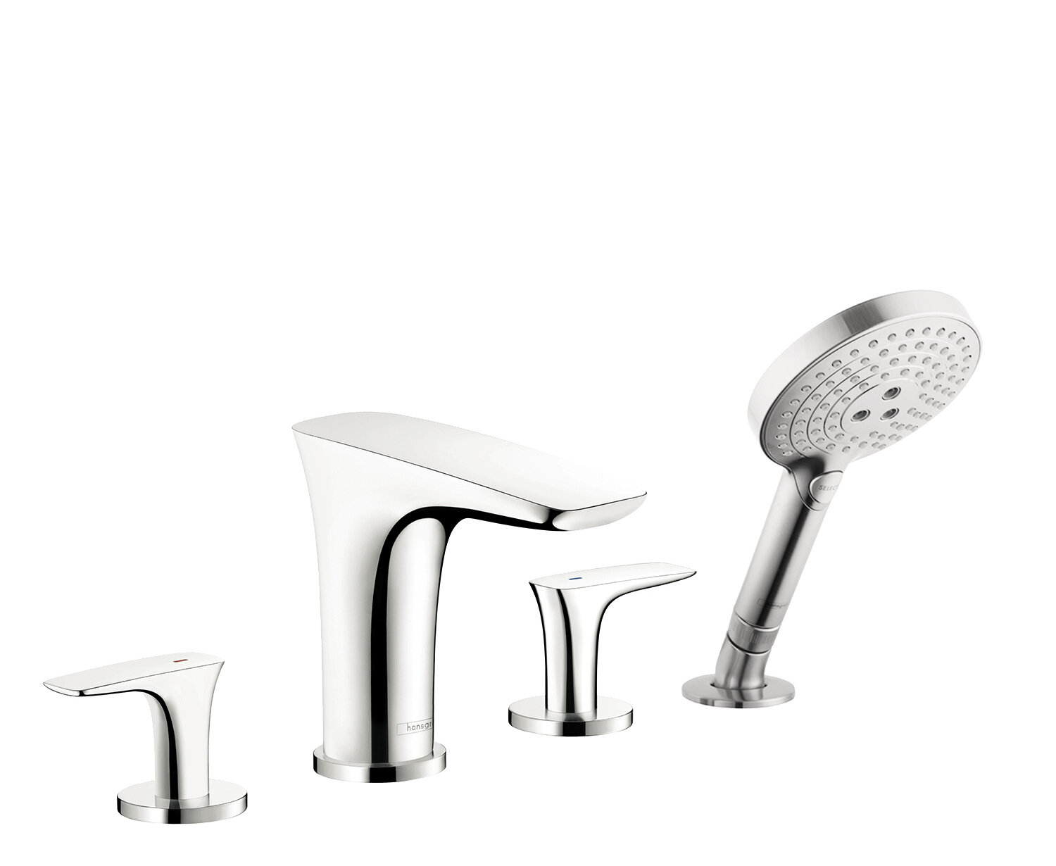 Hansgrohe Puravida Double Handle Deck Mounted Roman Tub Faucet Trim With Diverter And Handshower Wayfair