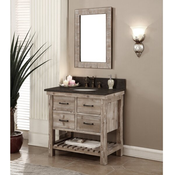 Clemmie 31 Single Bathroom Vanity Set with Mirror by Laurel Foundry Modern Farmhouse