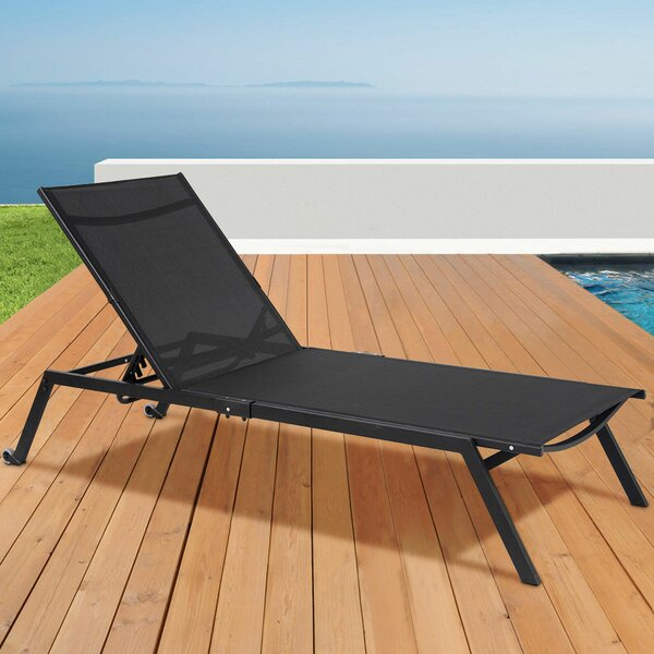 Lollar Height Adjustable Reclining Chaise Lounge