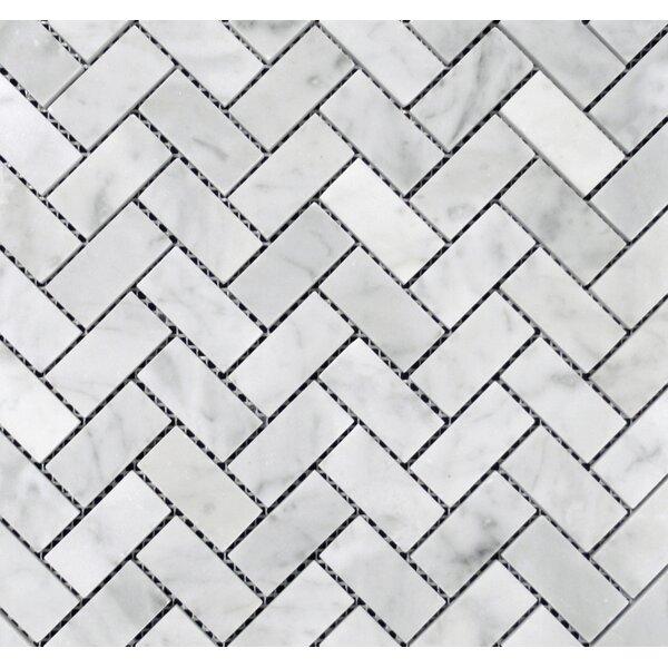 1 x 2 Mosaic Tile in Bianco Carrara by Ephesus Stones