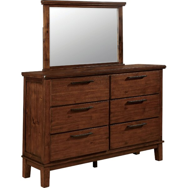 Mcfarren 6 Drawer Dresser with Mirror by Millwood Pines