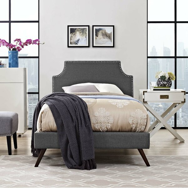 Ayala Twin Upholstered Platform Bed by Trule Teen
