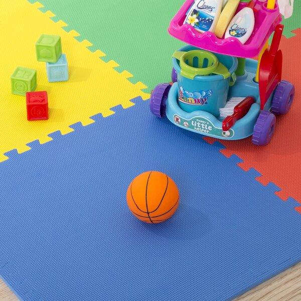 Multicolor EVA Foam Floor Mats (Set of 4) by Stalwart