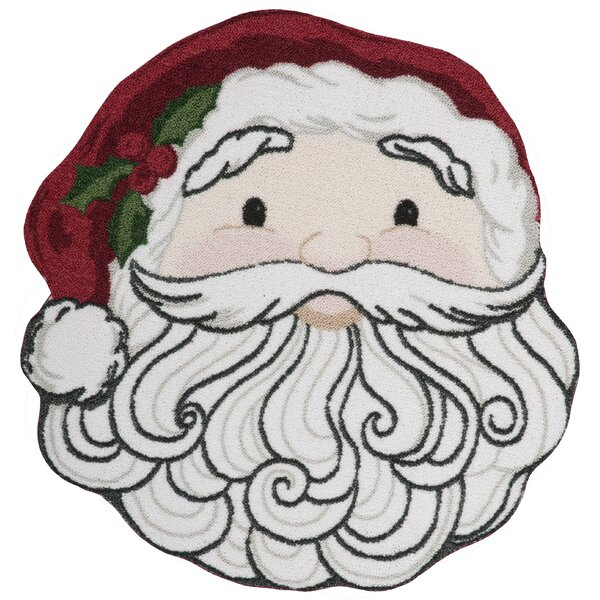 Christmas Santa Face Red/White Area Rug by Kathy Ireland Home