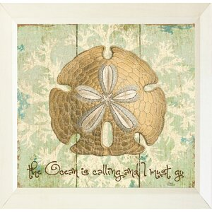 'Sand Dollar the Ocean is Calling and I Must Go' Framed Graphic Art Print, Poster by Buy Art For Less
