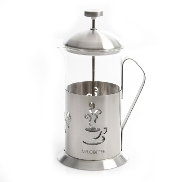 4-Cup Mr Coffee Gourmet Brew French Press Coffee Maker with Scoop by Gibson