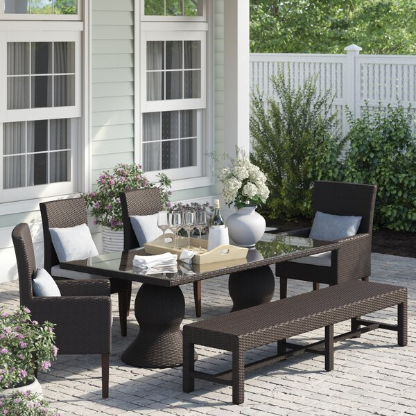 Stratford 6 Piece Dining Set with Cushions by Sol 72 Outdoor