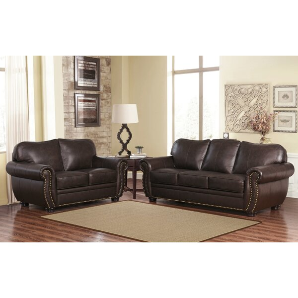 Morgenstern 2 Piece Leather Living Room Set by Darby Home Co