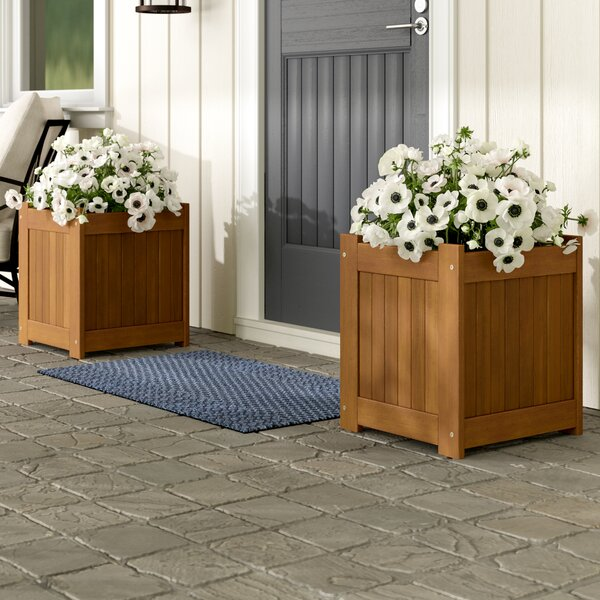 Mcswain Hardwood 2 Piece Planter Box Set by Ebern Designs