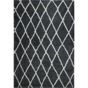 Deals Fancy Trellis Black Area Rug By Brayden Studio