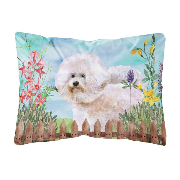 Lawson Bichon Frise Spring Indoor/Outdoor Throw Pillow by Winston Porter