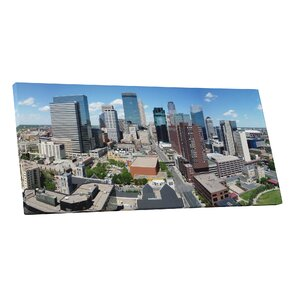 City Skylines Minneapolis Minnesota Photographic Print on Wrapped Canvas by Pingo World