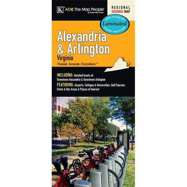 Alexandria/Arlington Laminated Map by Universal Map