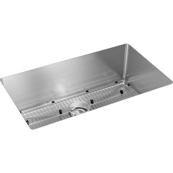 Crosstown 16 Gauge 33 L x 18 W Undermount Kitchen Sink Kit