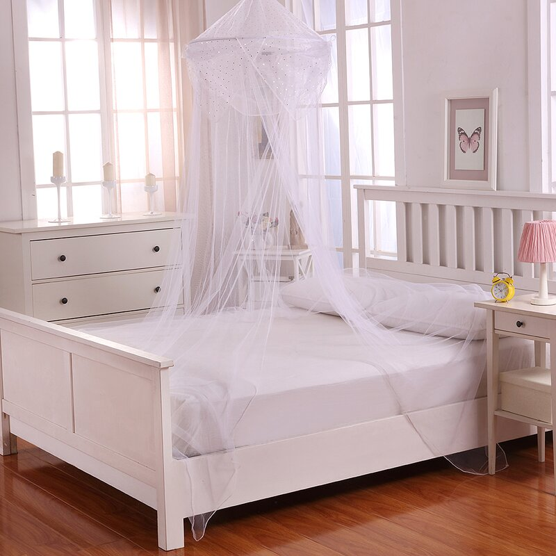 Casablanca Kids Raisinette Kids Collapsible Hoop Sheer Bed Canopy ...