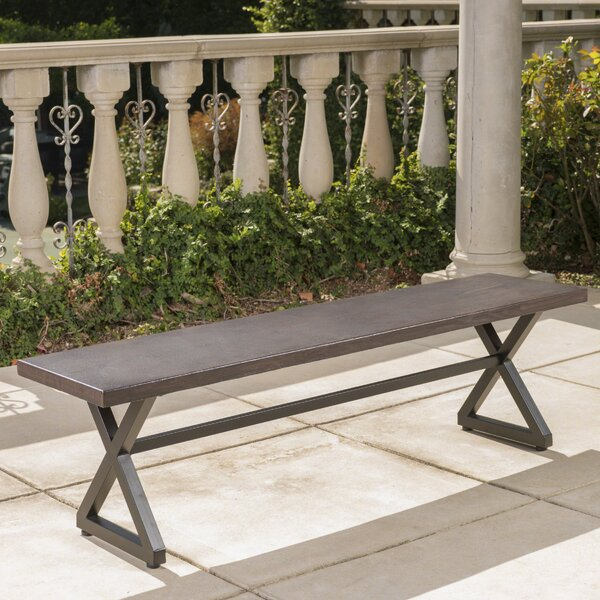 Bohra Outdoor Aluminum Picnic Bench by Union RusticBohra Outdoor Aluminum Picnic Bench by Union Rustic
