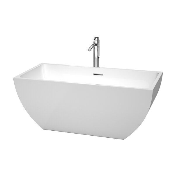 Rachel 59 x 29.5 Soaking Bathtub by Wyndham Collection