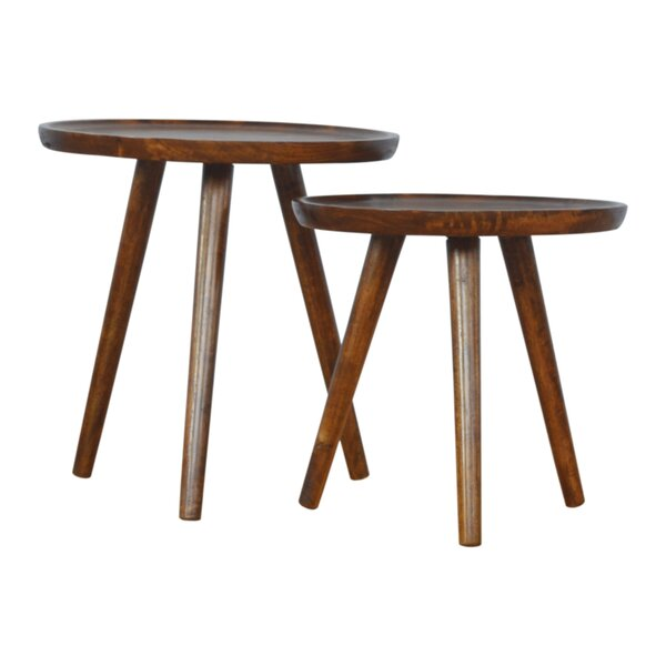 Ronning 2 Piece Accent Stool Set by Wrought Studio