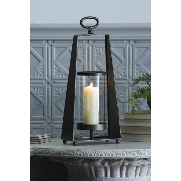 Candleholder Metal and Glass Hurricane (Set of 2) by Wrought Studio