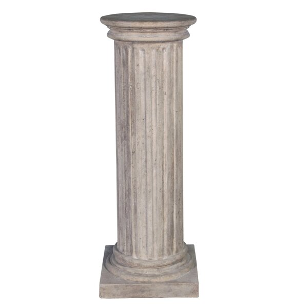 Classical Greek Fluted Pedestal by Design Toscano