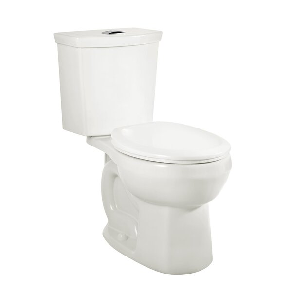 H2Option Siphonic Right Height Dual Flush Round Two-Piece Toilet by American Standard