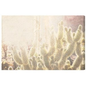 'Cactus' Photographic Print on Wrapped Canvas by Bungalow Rose