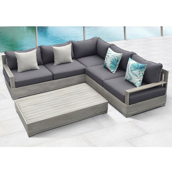Beranda 3 Piece Sectional Set with Cushions by Ove Decors