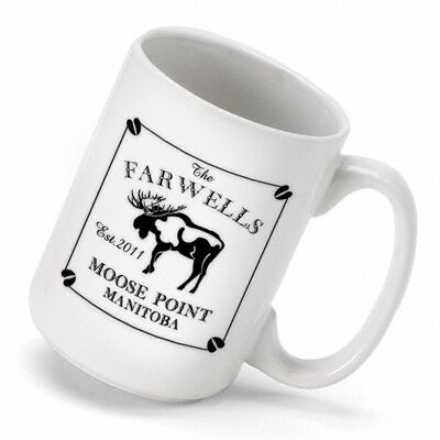 Personalized Gift Cabin Series Moose Coffee Mug by JDS Personalized Gifts
