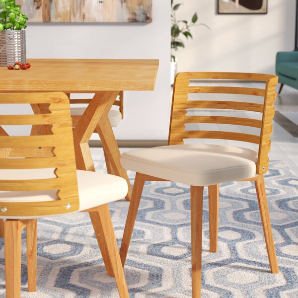 Awesome Westhoff Bamboo Upholstered Dining Chair By Brayden Studio Gmtry Best Dining Table And Chair Ideas Images Gmtryco