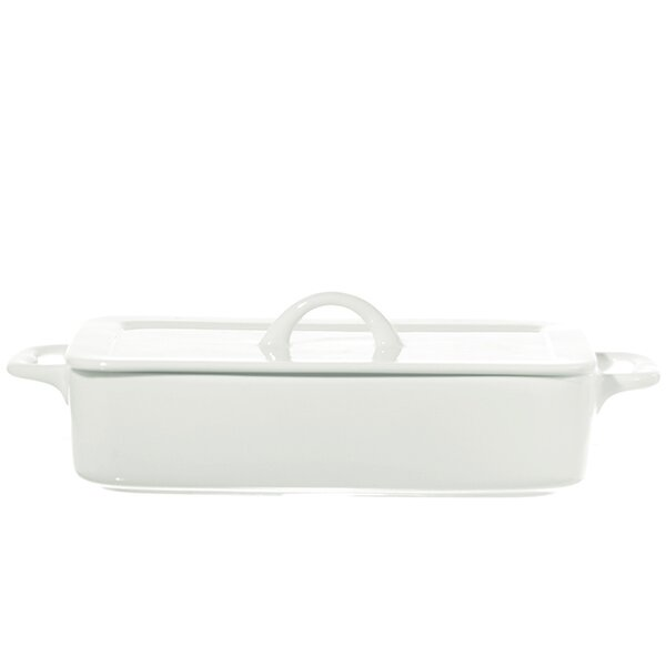 Poppi Rectangle Baking Dish with Lid by La Porcellana Bianca