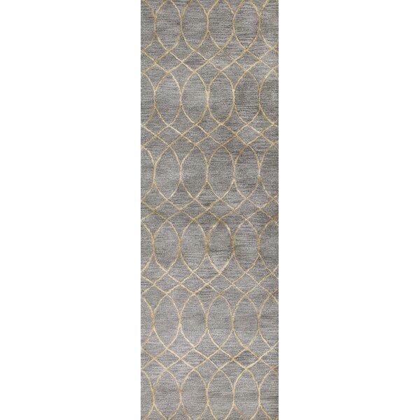 Jared Handmade Wool Gray Area Rug by Mercer41