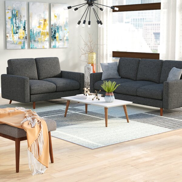 #1 Macsen 2 Piece Living Room Set By Wrought Studio Modern
