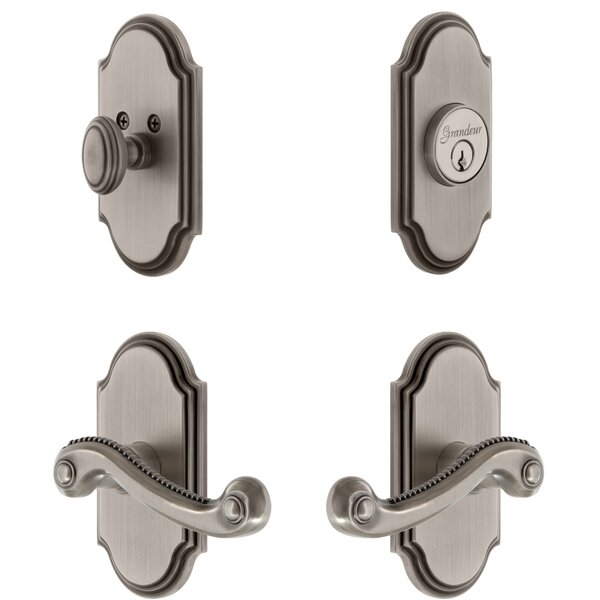 Arc Single Cylinder Lever Combo Pack Newport Lever by Grandeur