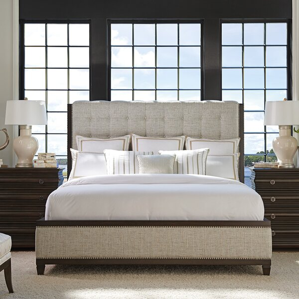 Brentwood Tufted Upholstered Standard Bed by Barclay Butera