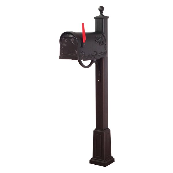 Hummingbird Curbside Locking Mailbox with Main Street Post Included with Base by Special Lite Products