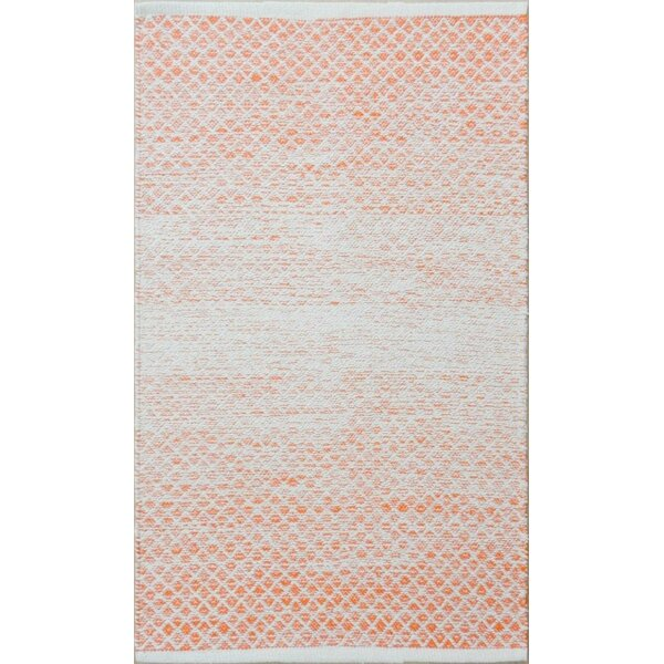 Parker Hand-Woven Orange Area Rug by Rosecliff Heights