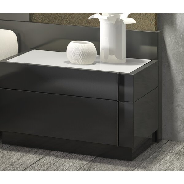 Boyertown 2 Drawer Nightstand Left Facing by Wade Logan