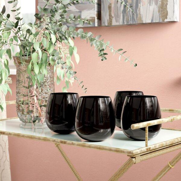 Abdullah 22 Oz. Stemless Wine Glass (Set of 4) by Willa Arlo Interiors