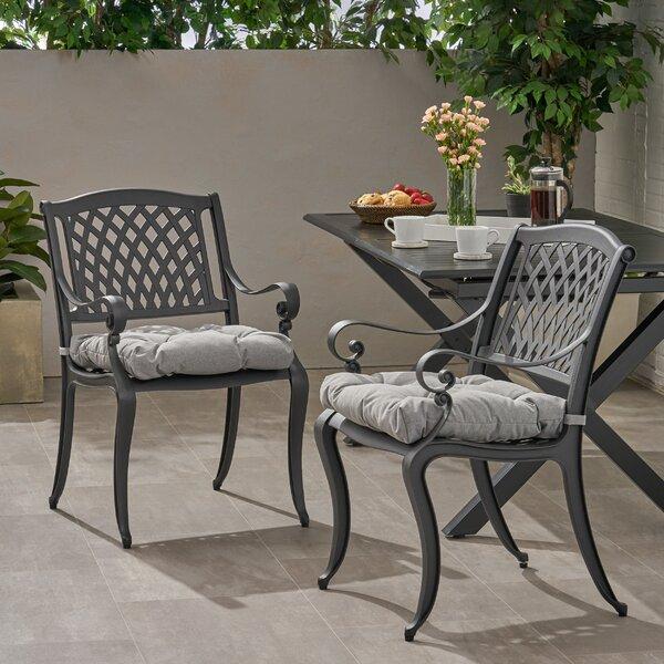 Pillager Patio Dining Chair with Cushion (Set of 2) by Fleur De Lis Living Fleur De Lis Living