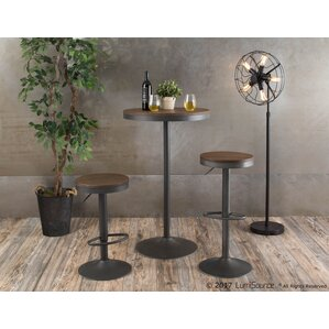 Gertie Adjustable Pub Table by Gracie Oaks