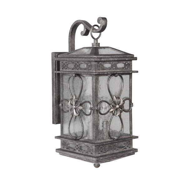 Caddy 3-Light Outdoor Wall Lantern by August Grove
