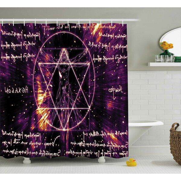 Sacred Spiritual Vitruvian Man Shower Curtain by East Urban Home