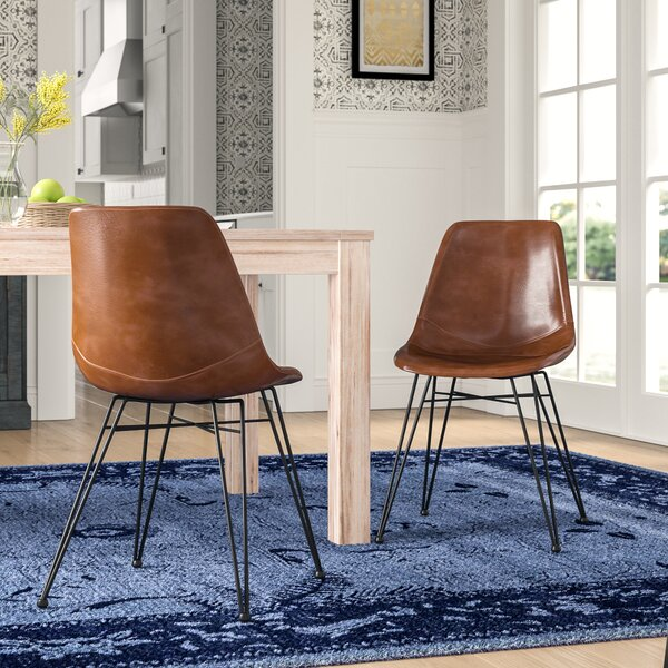 Adrianne PU Leather Upholstered Dining Chair (Set of 2) by Mistana