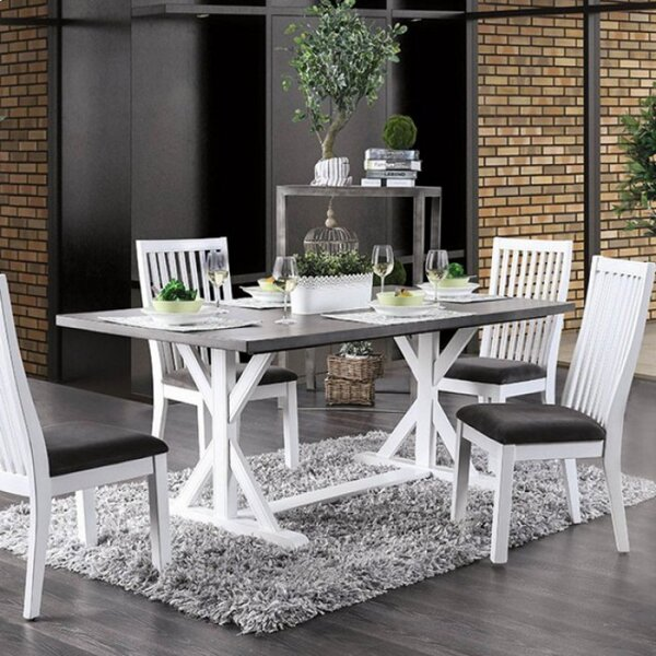 Robinette Solid Oak Dining Table by Longshore Tides Longshore Tides