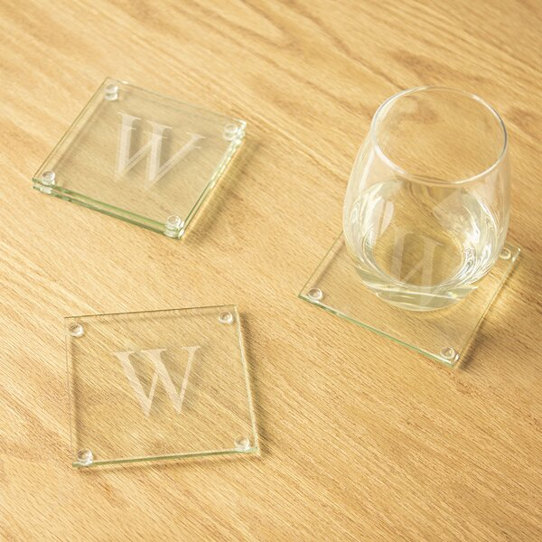 Glass Coasters (Set of 4) by Andover Mills