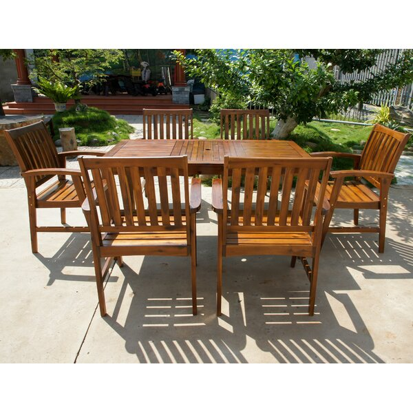 Enright Outdoor 7 Piece Dining Set by Breakwater Bay